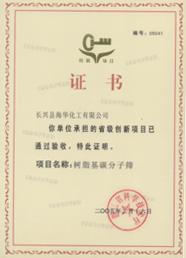创新项目证书